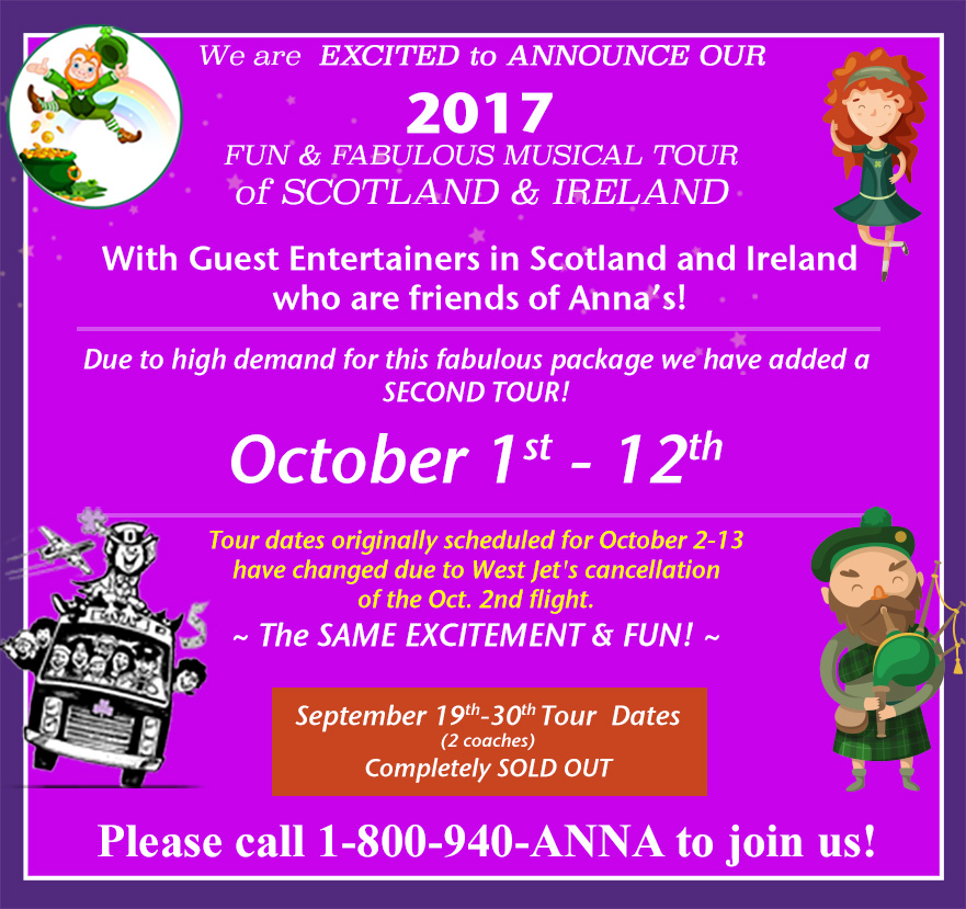 2017 Anna McGoldrick's Musical Tour Scotland and Ireland